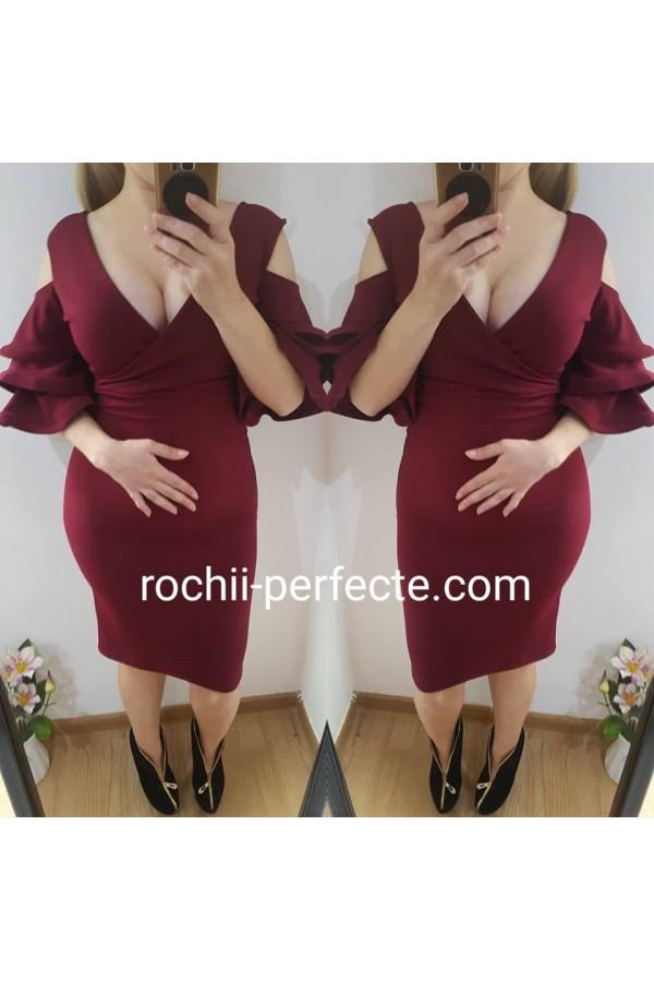 Rochie Gina bordo