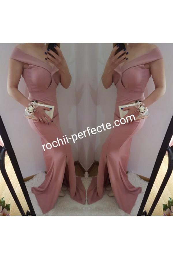 rochie adriana roz pudra
