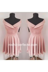 Rochie mara roz prafuit