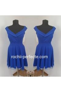 rochie mara albastra