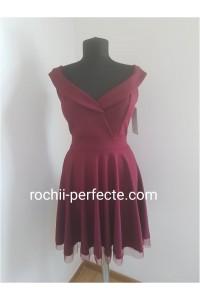 rochie mara bordo