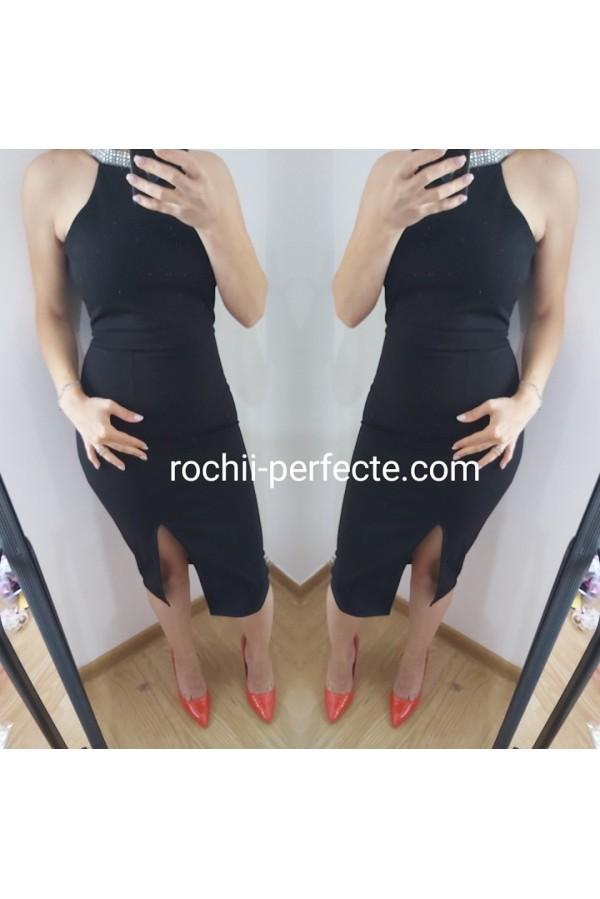 rochie scurta conica neagra