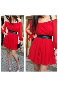 rochie clara rosie scurta