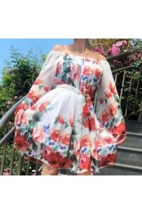 rochie flower alba
