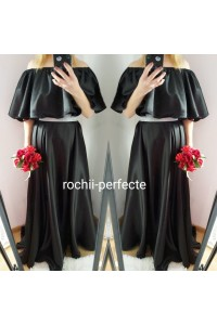 rochie neagra din tafta elastica