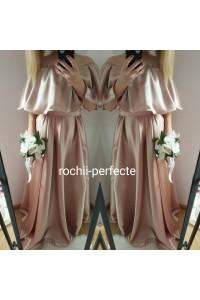 rochie aurie din tafta elastica