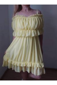 rochie miriam galbena