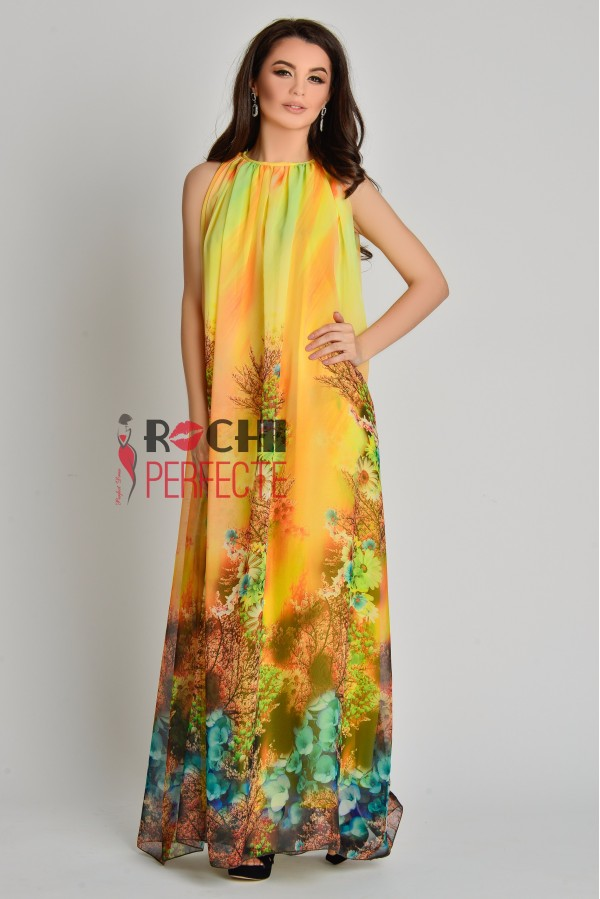 rochie anabelle yellow flower