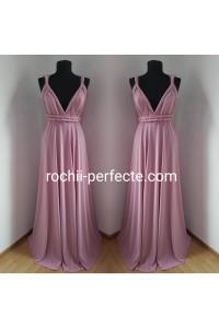rochie versatila roz prafuit