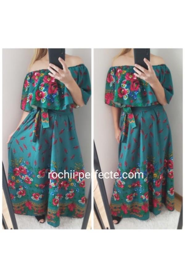 rochie gipsy long verde