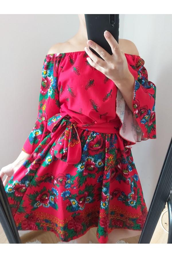 rochie gipsy scurta rosie
