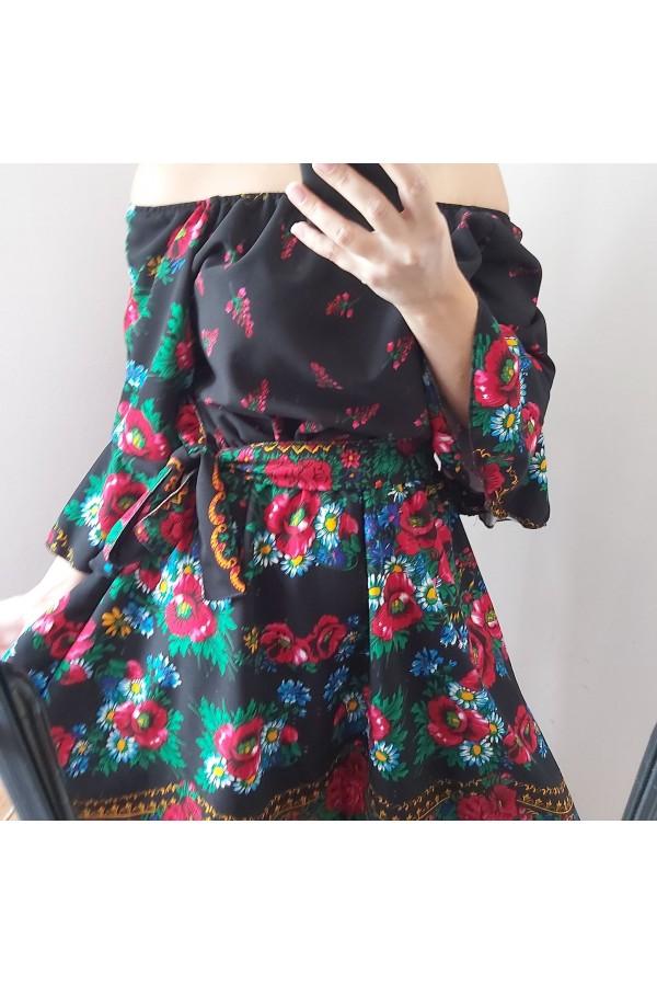 rochie gipsy scurta neagra