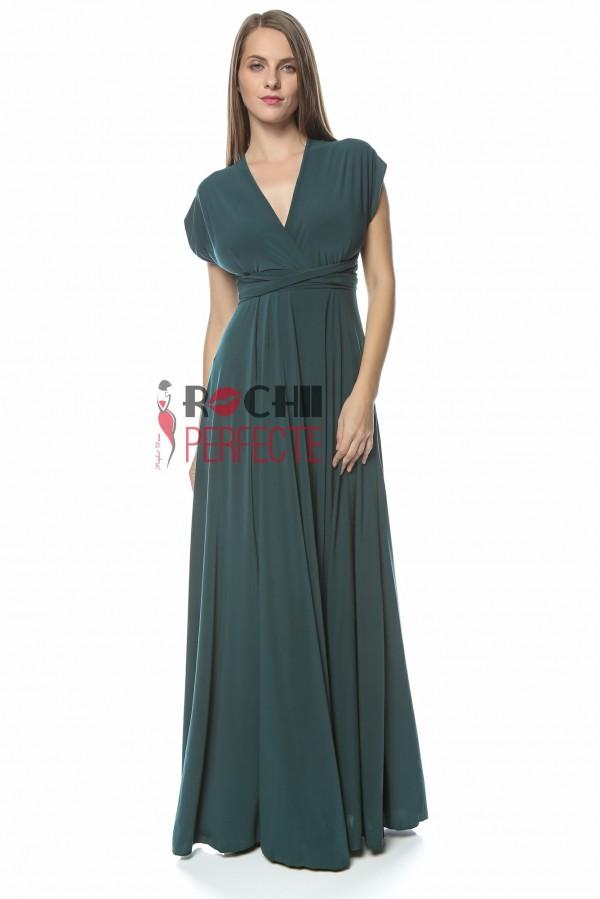 rochie versatila verde brad