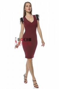 rochie scarlet scurta bordo