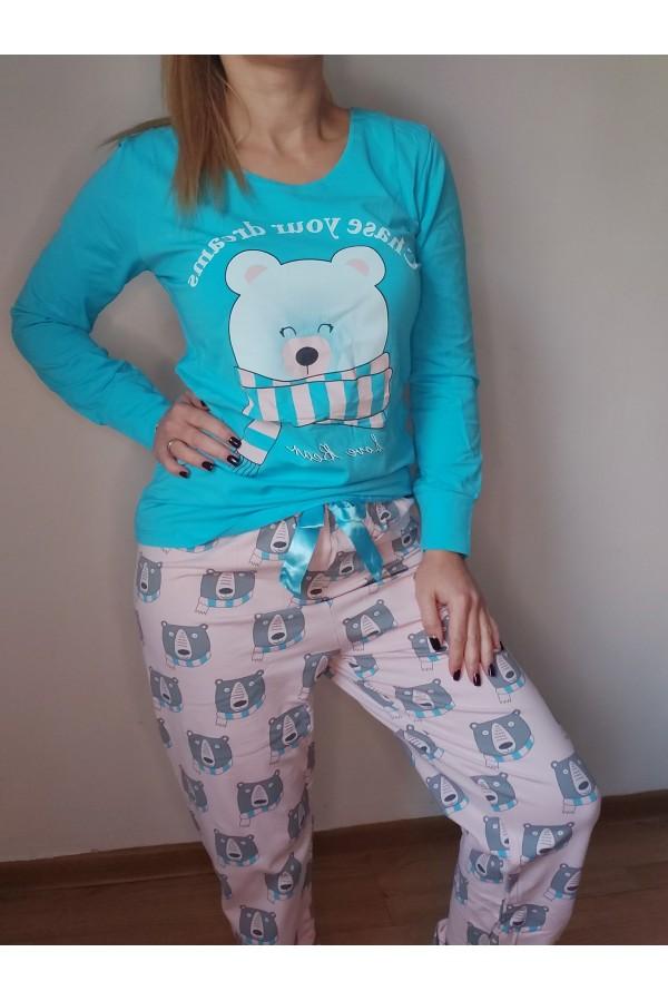 pijama ursulet bleu