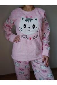 pijama pisica roz