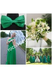 rochie versatila verde plus papion