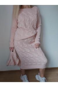 compleu tricotat roz