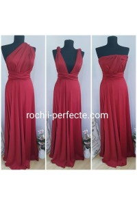 rochie versatila light bordo