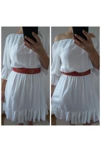rochie nora scurta alba