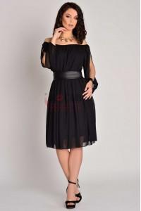 rochie clara scurta neagra