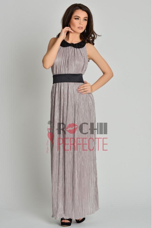 rochie lunga argintie