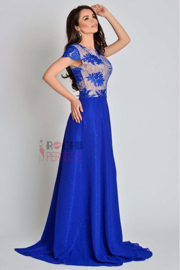 rochie sparkle princess albastru electric