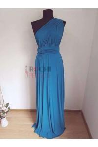 rochie versatila albastru turcoaz